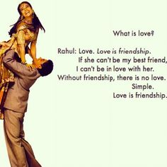 Kuch Kuch Hota Hai! <3 if only he realized that his greatest friendship was with Anjali from the beginning