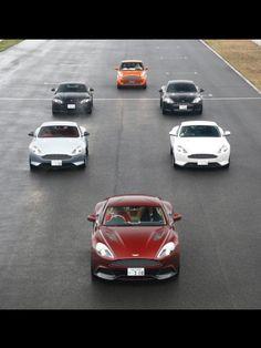 The Aston Martin fleet 2013