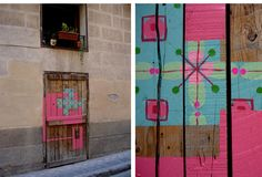 STREET ART - NURIA MORA Graffiti, Color Stories, Street Artists, Graphic Design Art, Installation Art, Pattern Fashion, Surface Design, Indoor Outdoor, Cool Pictures