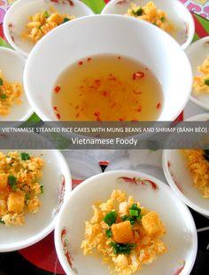 Vietnamese Steamed Rice Cakes with Mung Beans and Shrimp (Bánh Bèo) - #vietnamesefood #vietnamesericecakes #food #vietnamesestreetfood