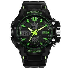 Sport Waterproof Digital Children Analog Wrist Watch for Boys. Japanese quartz movement, super material. With backlight, waterproof, digital. Hour, minute, second, day, date, month display; hourly-chime, alarm, chronograph function. Length of band: from 5.6 to 8.39 inches. Recommended age: more than 13 years old.