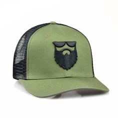 No Shave Life Beard Co. OG Beard Logo Mesh Trucker Military - 1
