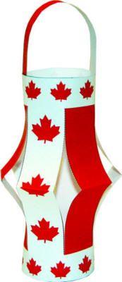 Manualidad el farol de Canadá
