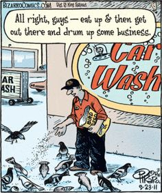 """All right, guys - eat up & then get out there and drum up some business."" Bizarro Toon by Dan Piraro Funny Shit, Funny Jokes To Tell, Funny Posts, The Funny, Hilarious, Funny Stuff, Funny Things, Cartoon Memes, Funny Cartoons"