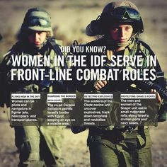 Facts about brave IDF women soldiers.