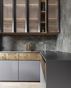 CHIC on Behance Luxury Kitchen Design, Kitchen Room Design, Kitchen Cabinet Design, Interior Design Kitchen, Kitchen Dinning Room, Kitchen Living, Kitchen Decor, Kitchen Ideas, Dining