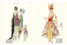 Art Deco Costume Prints, Pair on OneKingsLane.com