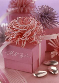 Bows for packages - paper. I'd love to know how to do it.