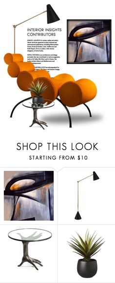 """""""Warm Shapes"""" by traunicorn ❤ liked on Polyvore featuring interior, interiors, interior design, home, home decor, interior decorating, Universal Lighting and Decor, Jonathan Adler, Kelly Wearstler and CB2"""