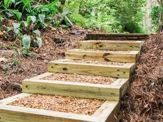 , how to make landscape stairs - - Yahoo Image Search Results. , how to make landscape stairs - - Yahoo Image Search Results Landscape Stairs, Landscape Timbers, Landscape Timber Edging, Landscape Timber Crafts, House Landscape, Landscape Architecture, Outdoor Landscaping, Outdoor Gardens, Landscaping Ideas