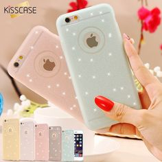 KISSCASE For iPhone 5 5S Case Girly Glitter Bling Diamond Matte Cover For Apple iPhone 5 5S SE Case Phone Bag Women Lady Girly #Affiliate