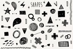 Hand drawn elements collection - Objects