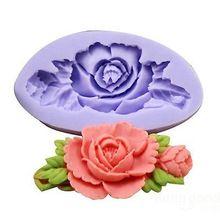 1x 3D Rose Flor Silicone Molde Do Bolo Molde de Cozimento Sabonete de Chocolate Fondant Sugar Craft Decoração da cozinha(China (Mainland))