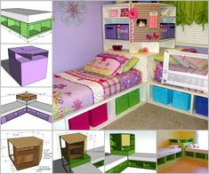 diy twin corner beds - Google Search
