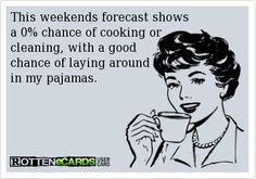 I might put some clothes on, so the forecast is 95% correct.