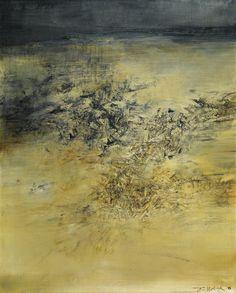 Zao Wou-Ki 1.5.60 oil on canvas abstract