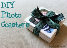 Need a last minute gift?  Check out these DIY photo coasters.  I think the most time consuming part about this was trying to get good photos of the kids.  http://www.jugglingwithkids.com/2012/06/diy-photo-coasters-for-fathers-day.html