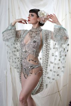 Embroidered Shrug by Talulahblueburlesque on Etsy