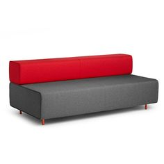 Block Party Lounge Sofa, Dark Gray + Red,Dark Gray