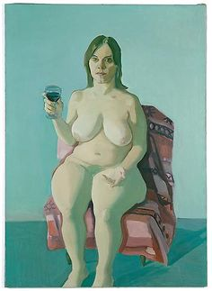 maria lassnig paintings | Maria Lassnig - GIRL WITH WINE GLASS, 1971