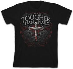 All Sizes My Savior is Tougher than Nails 3 - Christian Shirt - JTbliss