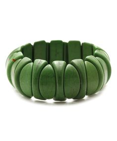 Take a look at this Green Howlite Stretch Bracelet today!