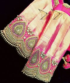 Wedding Saree Blouse Designs, Pattu Saree Blouse Designs, Blouse Designs Silk, Designer Blouse Patterns, Baby Dress Design, Sleeves Designs For Dresses, Stylish Blouse Design, Maggam Works, Embroidered Blouse