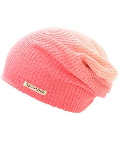 Add some color to your life with this slouch fit beanie in a pink fade colorway, finished with a floral print Spacecraft tag at the bottom hem. Cute Beanies, Cute Hats, Emo Outfits, Cute Outfits, Beanie Hats, Slouch Beanie, Kinds Of Clothes, Clothes For Women, Head Sock
