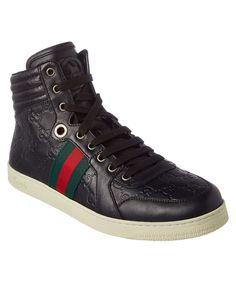 GUCCI Gucci Guccisima Leather High Top Sneaker. #gucci #shoes #