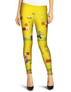 Womens 3 D Mario Game Printed Cool Leggings