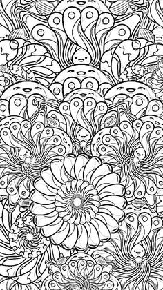 Abstract Doodle Zentangle Paisley Coloring pages colouring adult detailed advanced printable Kleuren voor volwassenen coloriage pour adulte anti-stress kleurplaat voor volwassenen Line Art Black and White