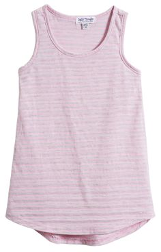 Daily Threads striped racer-back tunic for girls in Light Pink. Sizes 3/6m to 14, $35. Always 100% made in America. #kidsclothes #kidsfashion #madeinamerica #americanmade #madeinUSA