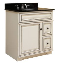 """View the Sunny Wood SL3021D Sanibel 30"""" Maple Wood Vanity Cabinet Only at FaucetDirect.com."""