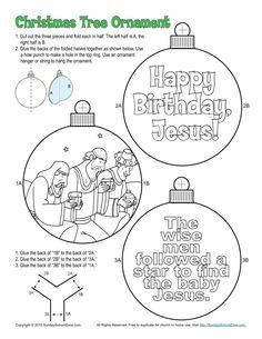 Mary and Joseph Christmas Ornament (Colorable) - Children's Bible Activities Christmas Sunday School Lessons, School Christmas Party, Sunday School Activities, Christmas Activities For Kids, Bible Activities, Preschool Christmas, Sunday School Crafts, Bible Games, Church Activities