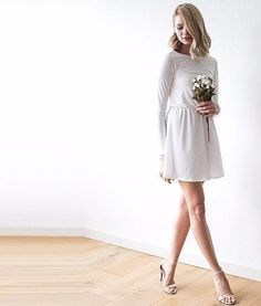 Backless Ivory mini dress with long sleeves 1042 - Cute Dresses Cute Short Dresses, Mini Dresses, Dresses For Sale, Summer Dresses, Stunning Dresses, Skater Dress, Party Dress, Backless, Shoulder Dress