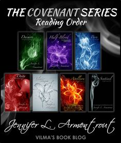 COVENANT SERIES by Jennifer L. Armentrout... I LOVED this series read the first 5 books (2 novellas and 3 novels) in 4 days. Which is a major feat since I have a 2 year old. Would totally recommend