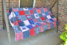 ~DENIM  4TH OF JULY QUILT~QUILTING~QUILT~TOP~DENIM SQUARES~WRANGLERS~PBR~LEVIS~