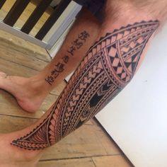 Samoan Leg Tattoo Johns samoan inspired leg tattoo higgins tattoo #samoantattoosleg