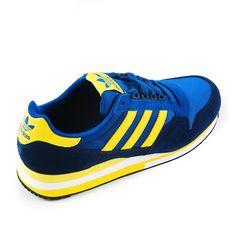 adidas Originals ZX 500 Blue  Yellow  http://www.facebook.com/DressShoesandSneaker