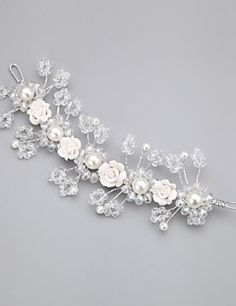 Women/Flower Girl Crystal/Alloy/Imitation Pearl Flowers With... – USD $ 19.99