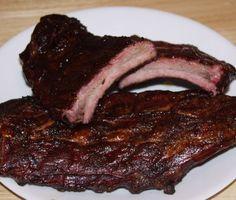 ribs with b-b-q sauce