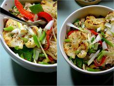Christina macht was!: Go East: Christina's Glasnudelsalat mit Erdnuss-Mandarinen-Dressing (vegan)
