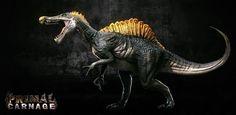 Primal Carnage Spinosaurus, Kevin Bryant on ArtStation at https://www.artstation.com/artwork/primal-carnage-spinosaurus