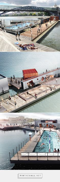 100architects conceptualizes floating suprematist pool in moscow - created via http://pinthemall.net