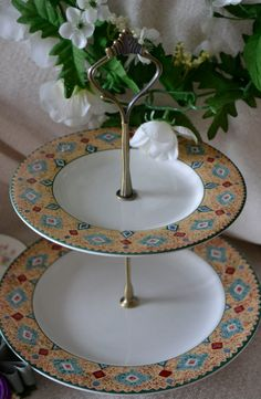 Tiered Cake Stand Tiered Server with Southwestern by SimplyChina, $25.00