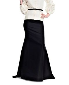 Floor length black maxi skirt, Mermaid silhouette high quality tailor made, High fashion ,plus size. €150.00, via Etsy.