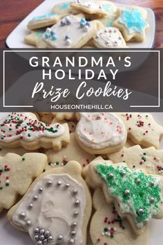 Grandma's Holiday Prize Cookies are an irresistibly delicious sugar and sour cream cookie that are the perfect addition to your holiday dessert platters! Easy to make, big batch cookies, with no chilling required. Click through to read the recipe in the post! Follow me on Facebook, Instagram and Twitter to get sneak peeks of projects I am working on.