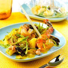 Papillotes de gambas au curry : la recette facile