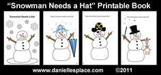 Snowman-needs-a-hat-printable-book www.daniellesplace.com