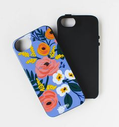 Violet Floral Protective iPhone Cover